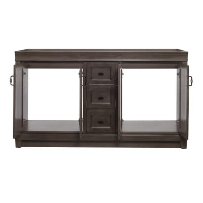 Home Decorators Collection Naples 60 In W Vanity Cabinet Only In Distressed Grey Nadga6021d The Home Depot