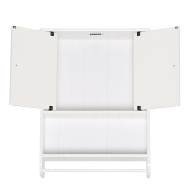 Zenna Home 19 19 100 In W X 25 3 5 In H X 5 3 4 In D Bathroom Storage Wall Cabinet In White E9114w The Home Depot