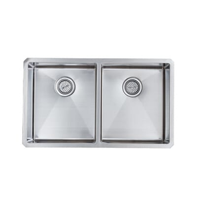 schon all in one undermount stainless steel 32 in double basin kitchen sink scra505016 the home depot. Interior Design Ideas. Home Design Ideas