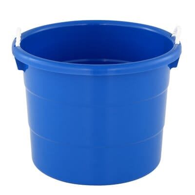 HDX 18 Gal. Tub with Rope Handle in Blue-0402HDCB.08 - The Home Depot