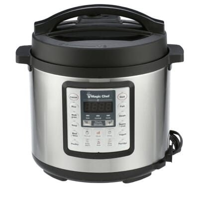 Magic Chef-All-In-One 6 Qt. Stainless Steel Electric Multi-Cooker with Stainless Steel Pot