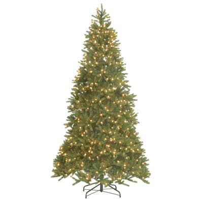 National Tree Company 9 Ft Feel Real Grande Fir Hinged Artificial  - Artificial Christmas Trees Home Depot