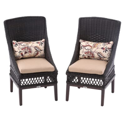 10. Hampton Bay Woodbury Wicker Outdoor Patio Dining Chair with