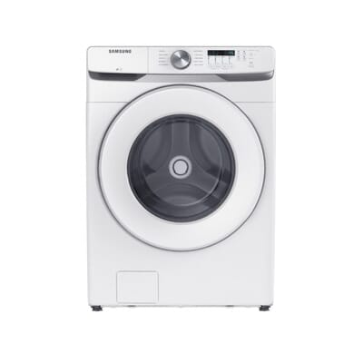 27 in. 4.5 cu. ft. High-Efficiency White Front Load Washing Machine with Self-Clean+, ENERGY STAR