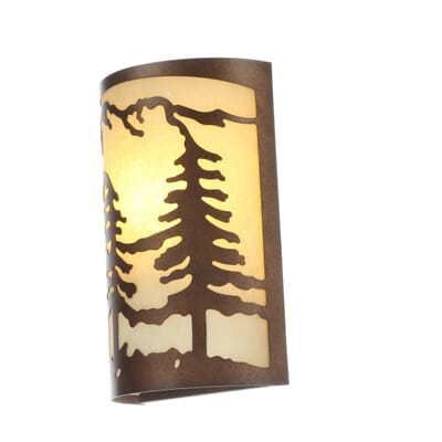 Hampton Bay 1 Light Natural Antler Sconce With Sunset Glass Shade 3