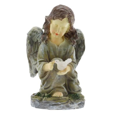 enjoyable home depot garden statues.  3 Moonrays Solar Powered LED Outdoor Polyresin Angel with Dove