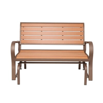 Lifetime Wood Alternative Patio Glider Bench 60055