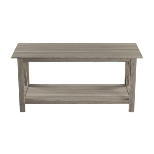 Linon Home Decor - Titian 45 in. Driftwood Large Rectangle Wood Coffee Table with Shelf