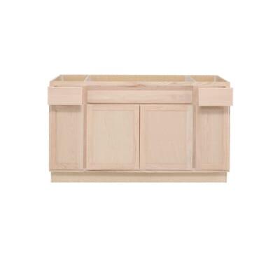 Kitchen Sink Base Cabinet. Sink Base Kitchen Cabinet in Unfinished Oak  2 Assembled 60x34 5x24