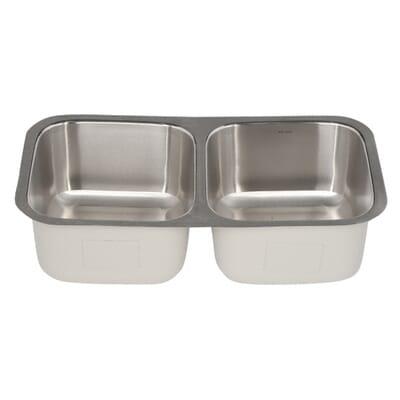 HOUZER Eston Series Undermount Stainless Steel In Double Bowl - Houzer kitchen sink