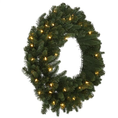 Home Accents Holiday 30 In Pre Lit Battery Operated LED Sierra  - Christmas Wreath Lights