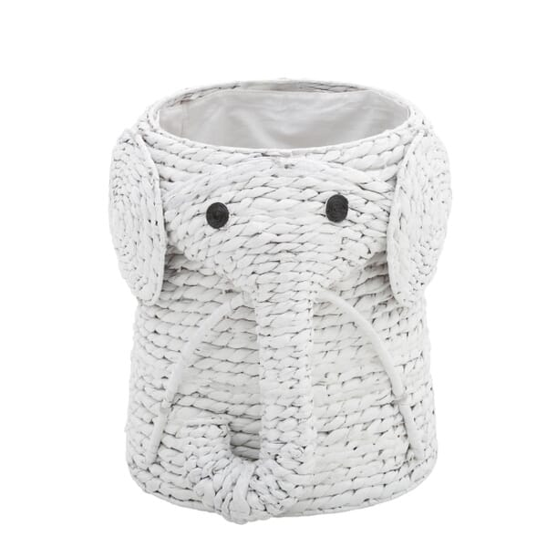 Home Decorators Collection - Animal 16 in. W Laundry Hamper in White