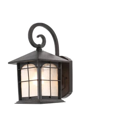 Home Decorators Collection Brimfield 1 Light Aged Iron Outdoor Wall Lantern 4