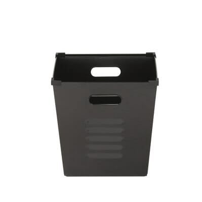 Home Decorators Collection Lachlan 3 Gal Metal Storage Bin In Black Set Of 9199510210 The Depot