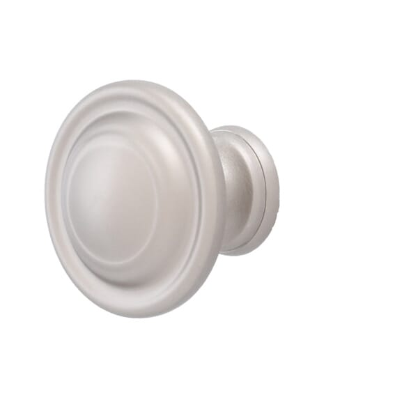 Cabinet knob featuring traditional style lines for a classic look
