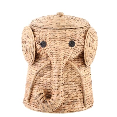 Home Decorators Collection-16 in. W Animal Laundry Hamper in Natural