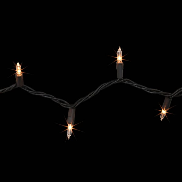 Home Accents Holiday 22 ft. Long Clear Mini Light Set w/100 Incandescent Lights