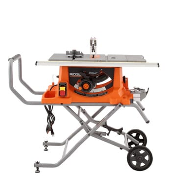 Ridgid 15 amp 10 in heavy duty portable table saw with stand 5 greentooth Images