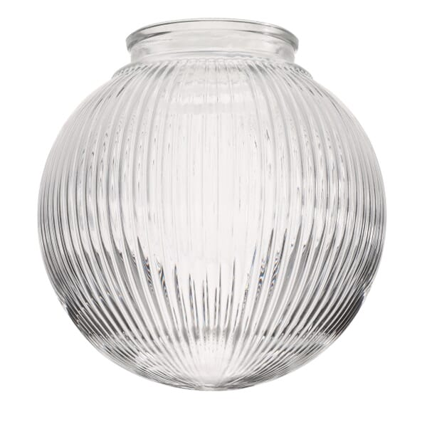 Glass shade designed for installation with a spring-loaded fitter