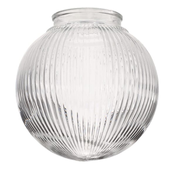 Shade featuring a ribbed glass that bends light for incredible texture