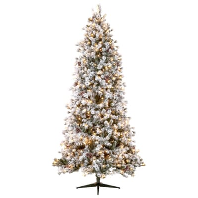 Home Accents Holiday 9 Ft Pre Lit LED Lexington Artificial  - Artificial Christmas Trees Home Depot
