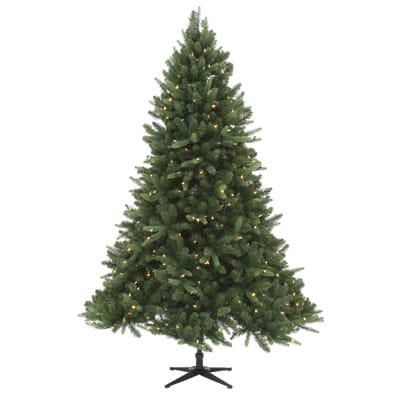 Home Accents Holiday 7 5 Ft Quick Set Pre Lit LED Sierra Nevada  - Christmas Trees In Home Depot