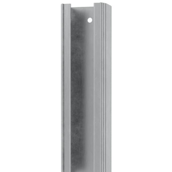 Door track and hardware set crafted of aluminum and steel