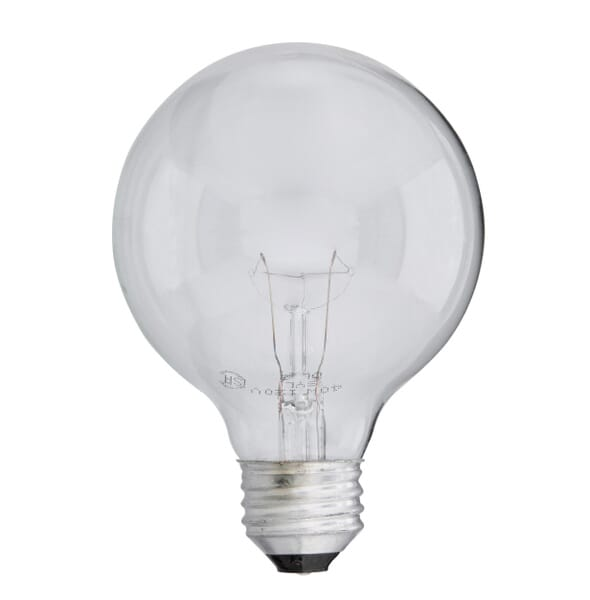 Light bulb crafted of clear glass for maximum brightness