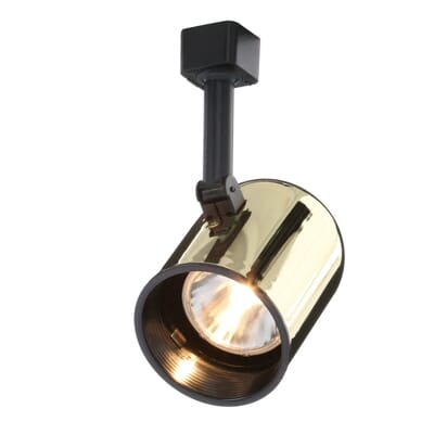 Juno trac lites polished brass round back cylinder light with 3 aloadofball Images