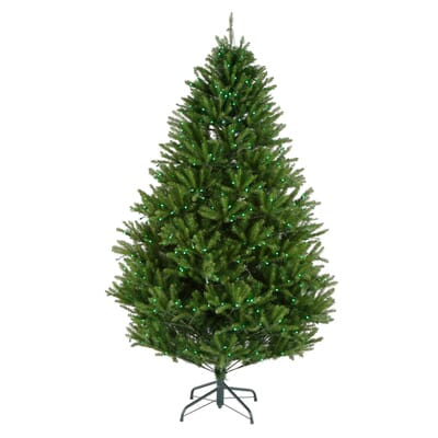 7 5 Ft Pre Lit LED California Cedar Artificial Christmas Tree  - Christmas Trees In Home Depot