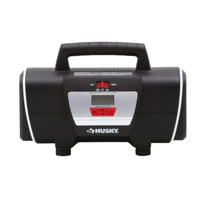 Husky 12 volt120 volt home and auto inflator hd12120 the home depot 2 sciox Choice Image