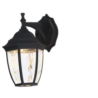 Hampton Bay Black Outdoor LED Wall Lantern (2-Pack)-HB7024-05TP ...